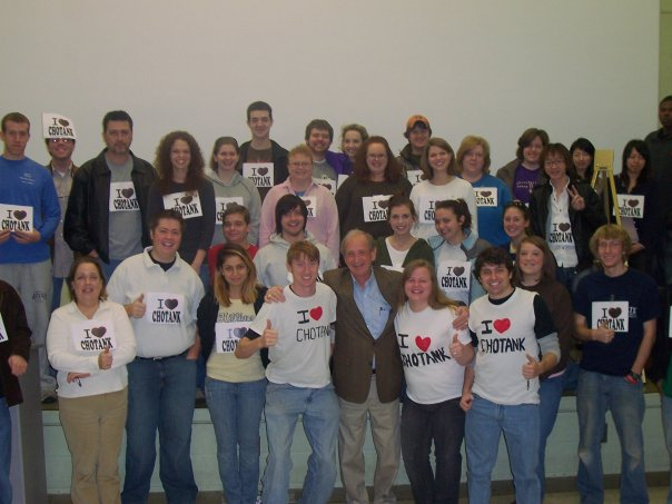UNA COM 316 students with Dr. Foote in fall 2007 at COM Bldg.